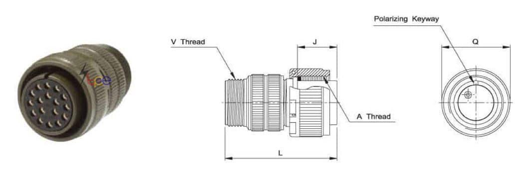 คอนเนคเตอร์แบบกลม รุ่น I/MS3106A Straight Plug
