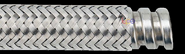 ท่อร้อยสายไฟอ่อนหุ้มเหล็กถัก (Flexible Metal Overbraided Stanless Steel)