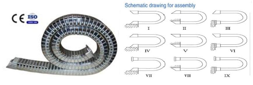 รางกระดูกงูสแตนเลส DGT Type (Stainless Steel Cable Drug Chain)