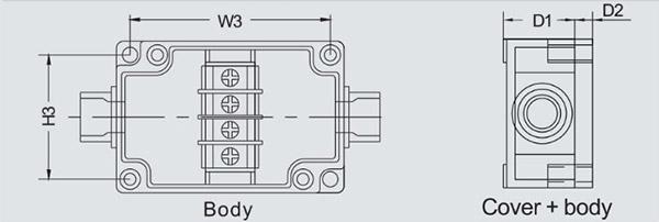 กล่องเทอร์มินอล PBT-3P , PBT-4P , PBT-6P (Terminal Box PBT-3P , PBT-4P , PBT-6P)