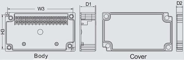 กล่องเทอร์มินอล TJ-10P , TJ-15P (Terminal Box TJ-10P , TJ-15P)
