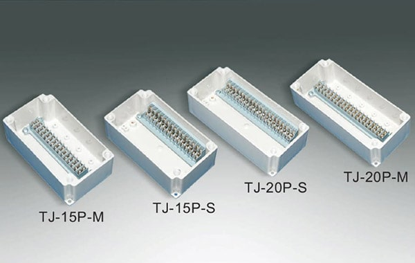 กล่องเทอร์มินอล TJ-15P-S , TJ-20P-S ,TJ-15P-M , TJ-20P-M (Terminal Box TJ-15P-S , TJ-20P-S ,TJ-15P-M , TJ-20P-M)