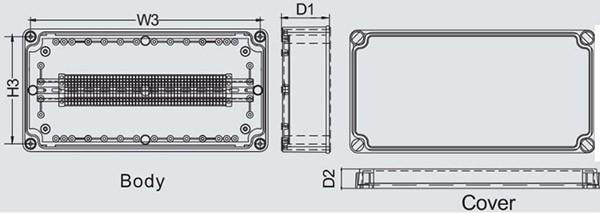 กล่องเทอร์มินอล TJ-45P , TJ-50P , TJ-60P (Terminal Box TJ-45P , TJ-50P , TJ-60P)
