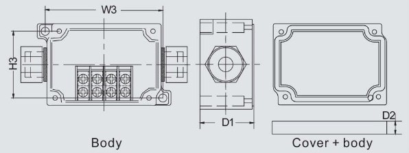 กล่องเทอร์มินอล TJ-4P , TJ-6P (Terminal Box TJ-4P , TJ-9P)