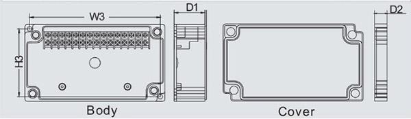 กล่องเทอร์มินอล TJ-30P-S , TJ-30P-M , TJ-40P-S , TJ-40P-M (Terminal Box TJ-30P-S , TJ-30P-M , TJ-40P-S , TJ-40P-M)