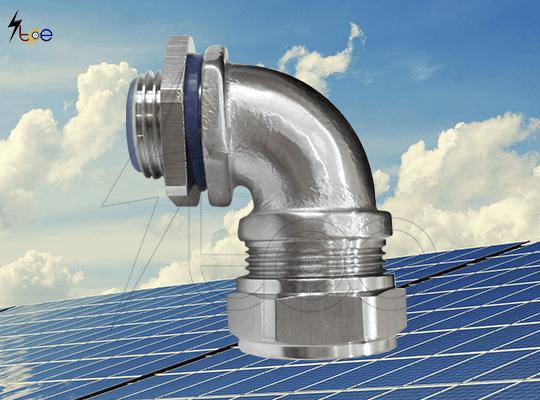 ข้อต่อแบบงอสแตนเลส ข้อต่อท่อเฟล็กสแตนเลสแบบงอ (Stainless Steel 90-Degree Angle Elbow Connector)